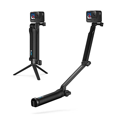 GoPro 3-Wege Halterung - Schwenkarm, Griff, Stativ, Rändelschraube (Offizielles GoPro-Zubehör)