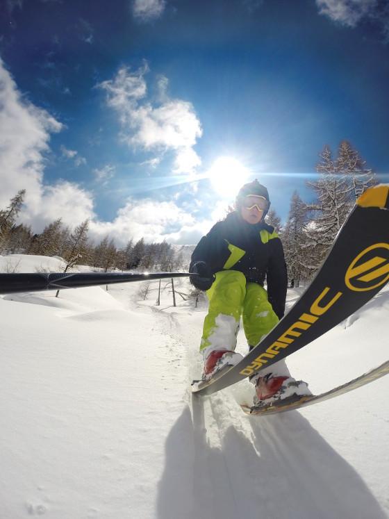 GoPro beim Skifahren