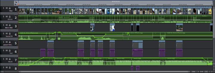 Videobearbeitung in der Timeline