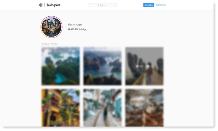 Instagram Suche