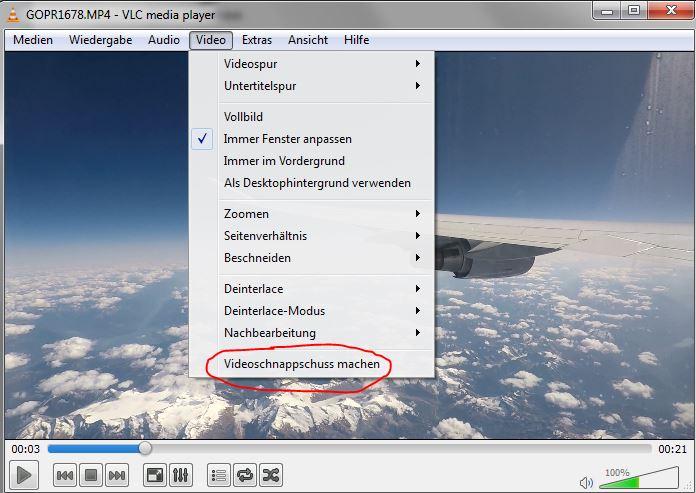 VLC- Bild Aus Video Speichern