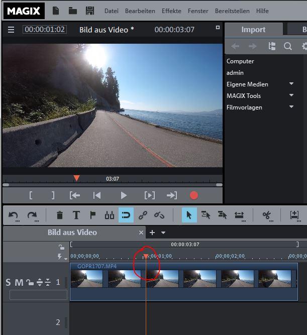 Video deluxe Bild aus Video