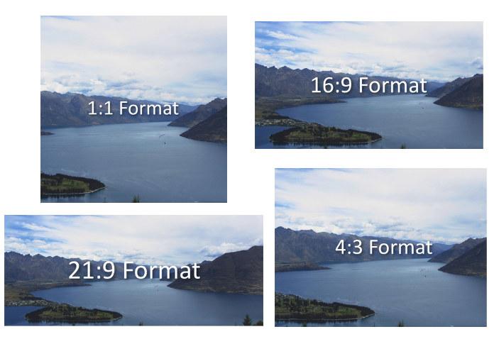 Video Seitenverhältnisse im Überblick